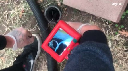 CA Man Uses Wire Hanger to Fish Engagement Ring From Backyard Waste Pipe