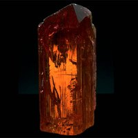 875-Carat Imperial Topaz Crystal Is a Golden-Orange Example of November's Birthstone